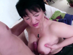 GERMAN STEP SON seduce Hairy Mother Petra to Fuck