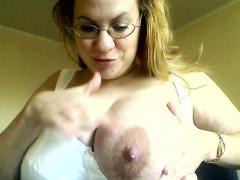 huge milky lactating breast