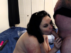 busty diana kane gives a blowjob and a titjob