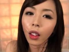 Wonderful oriental Marika gets hammered from behind