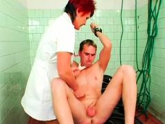 Sadomasochism festish with dominatrix spanking her serf hard