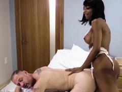 Busty ebony shemale nurse analyzed her horny patient