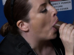 Naughty thief is subdued by perverted milf cops into hot sex