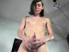 Randy solo shemale plugs her asshole
