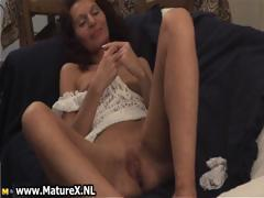 Horny Brunette Housewife Masturbating Part2