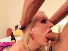 Tight ass tranny takes monster cock