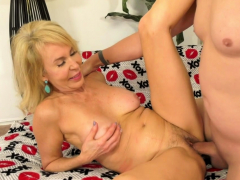 Hot Granny Erica Lauren Spreads for Cock