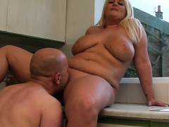 Working blonde woman likes it from behind