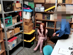 teen redhead shoplifter blows and rammed by store officer teensxxx.info