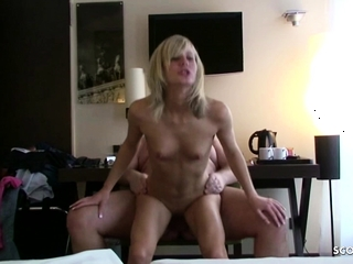 Sexy Petite Blonde Chick Fucks Her Old Fat Sugar Daddy