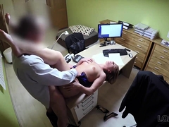 loan4k. blonde comes to loan agency and has wild