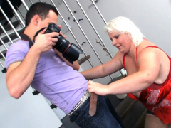 blonde bbw hot sex after photosession