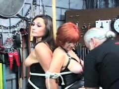 Sexy bizarre bondage home porn