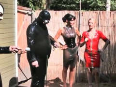Naked domina rocks your world when dominating knobs