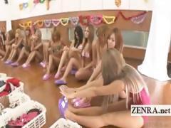subtitled-group-of-tan-japan-gyaru-change-into-bikinis