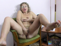 grey-haired-gilf-zosya-from-russia-finger-fucks-her-pussy