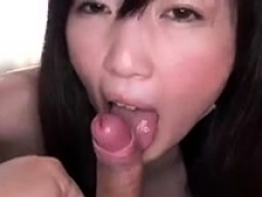 Japanese Asian Hairy Pussy Fucked and Facial