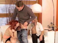 Daddy4k. Mature Dad Of Boyfriend Tastes Teen Pussy