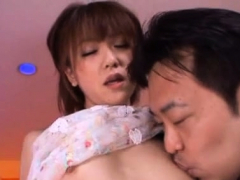 Raunchy lady Saki Ninomiya rides fuck stick of fucker