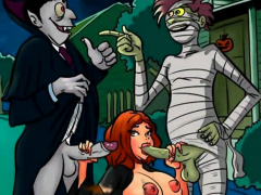 Halloween famous toons orgy