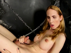 Bigtitted russian tgirl enjoying anal play