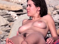 amateurs nude beach voyeur – compilation video part 2 Striptease