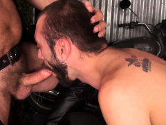 MANALIZED Ethan Palmer Barebacked By Bikers In Threesome