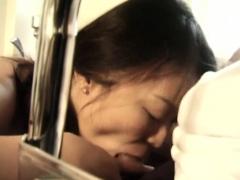 Asian nurse blows her disabled patient