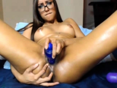 Sizzling Brunette Solo Pussy Toying Fun