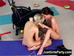 two-lesbian-girls-toying-their-pussies