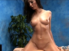 Classy Young Angelica Saige Gets Huge Shlong Into Her Cooter