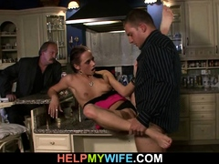 old-husband-watching-brunette-wife-gives-him-hot-blowjob