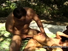 Interracial DP Anal Swinger Wife 3some Moment Session
