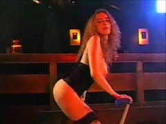 redhead adriana long legs dancing Striptease