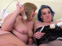 oldnanny big titted mature enjoys lesbian sex partner Hot