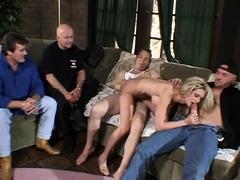 DP 3some For Blonde Swinger Wife Making Feel Good