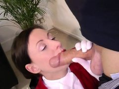 UK classy cougar takes big cock in both holes
