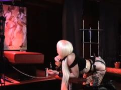 reality live BDSM show from night club bondage spanking
