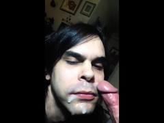 First Blowjob Vid Straight turned sissy gayboi gloryhole