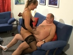 ass penetrated busty mature stockings slut sucks black cock Hot