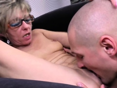 Hot gilf keeps it nice and tight get facial from young cock