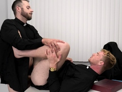 Mature priests suck and fuck each others gay assholes