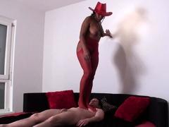wild-angel-milf-trample-bobby-in-red-body