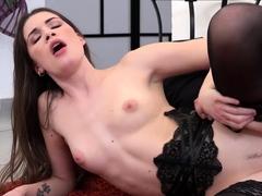 stunning-zena-in-black-lingerie-sucks-hard