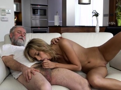 OLD4K. Belle takes part in spontaneous lovemaking