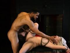 Foot slave and strangle bondage fuck xxx Big-breasted