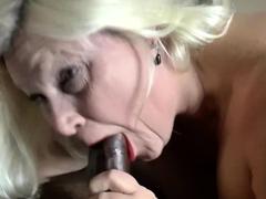 GRANNYLOVESBLACK - Personal Trainer Pounds Grandma's Pussy