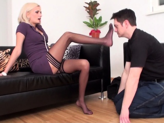 Nylon feet smelling by Lady isa