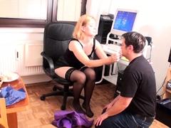 goddess-gloria-train-her-home-office-foot-slave
