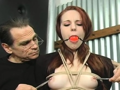 Great looking minx is playing with her nice tits